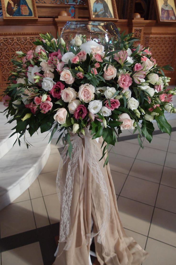 λαμπάδες γάμου με φρέσκα άνθη σε βάσεις από θαλασσόξυλα.Στολισμος Γαμου Διακοσμηση Γαμου Στολισμος Εκκλησιας .. wedding decoration with driftwood