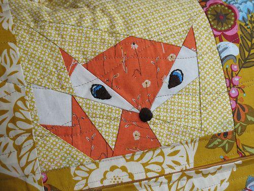 paper pieced fox by Trillium Design: Paperpiecing, Trillium Design, Paper Piecing, Paper Pieced, Oregon Born, Pieced Pattern, Sewing Machine