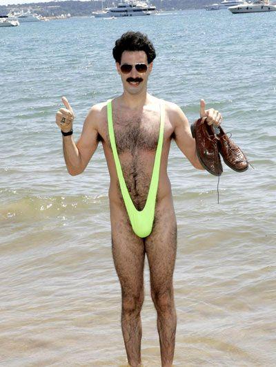 Borat in his mankini at the Cannes Film Festival