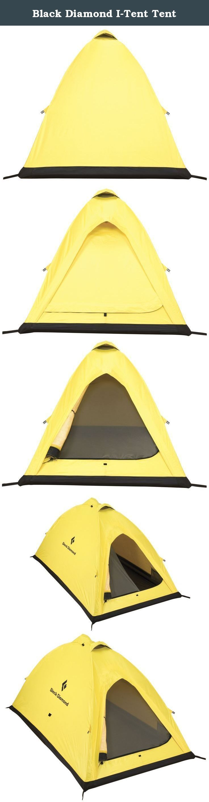 Black Diamond I-Tent Tent. The I-Tent is the classic compact mountaineering design for expedition use: Ultra-strong, lightweight 2-person design with efficient footprint. Single door entry and optional vestibule for gear storage. Has 2 internal aluminum poles for easy setup and 2 zippered vents at the peak, a hooded vent over the door and one at the bottom. Made with ToddTex single-wall fabric – 100% seam taped. Optional ground cloth available, sold separately.