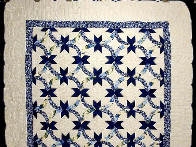 Blue And Yellow Lovers Knot Quilt Traditional Quilts