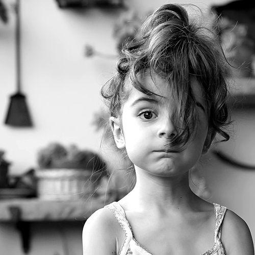 child. messy hair. weekend mood.