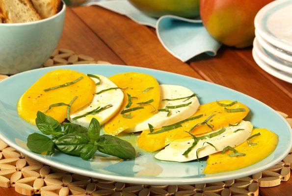 mango caprese salad recipe mango caprese salad mango caprese salad