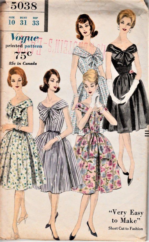 1960s Vintage Vogue Dress Pattern Audrey Hepburn 60s Sun Etsy In 2020 Vogue Dress Patterns Vogue Dress Fashion
