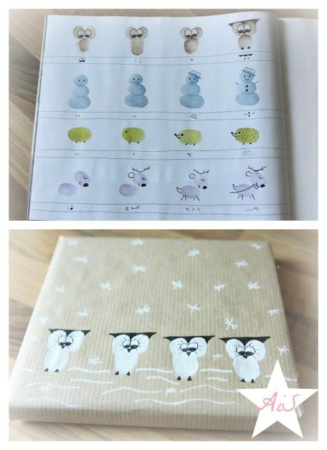 Geschenkpapier mit Fingerabdrücken