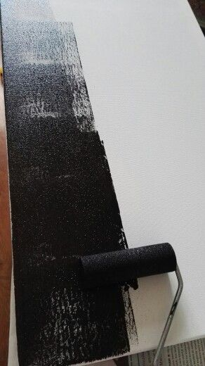 Rol de schildersdoek helemasl zwart met de krijt verf
