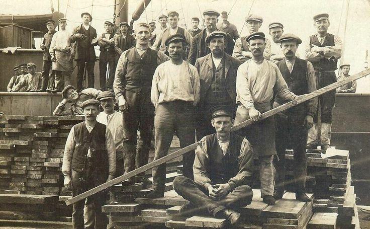 Havenarbeiders begin 1900 Mensen en werk. Pinterest