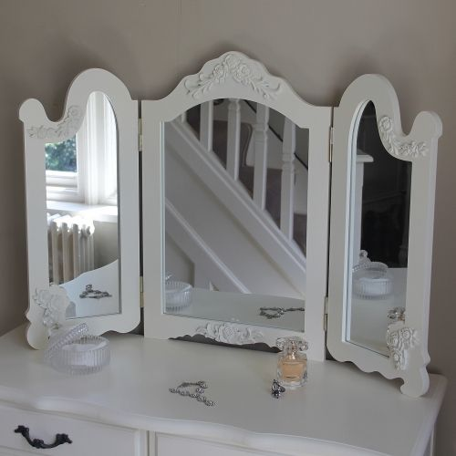Firth Range - Ivory Cream Triple Rose Mirror - Melody Maison®