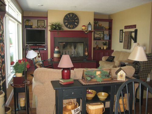 128 best Primitive living rooms images on Pinterest | Traditional ...