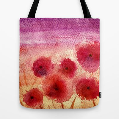 Evening watercolor Tote Bag by ♠ Ren - $22.00