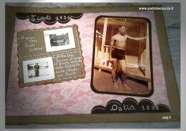 #Album  #di  #famiglia  #Eumene & #Clara realizzato a mano con la tecnica dello #scrapbooking - PAG 3