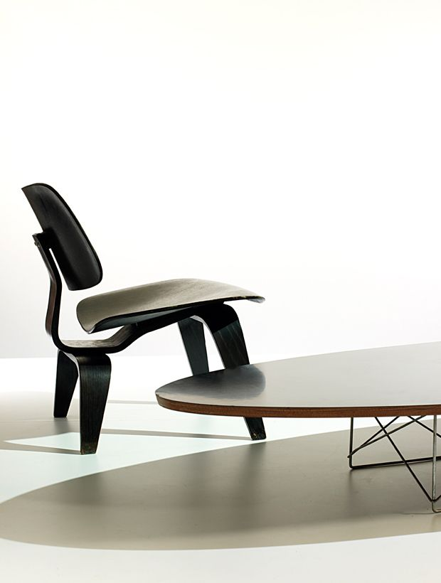 eames lounge chair wood and elliptical table