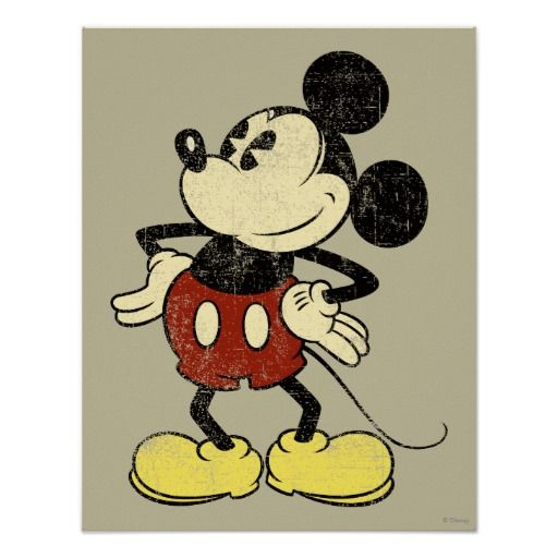 Vintage Mickey Poster.  You can customize the background colors!