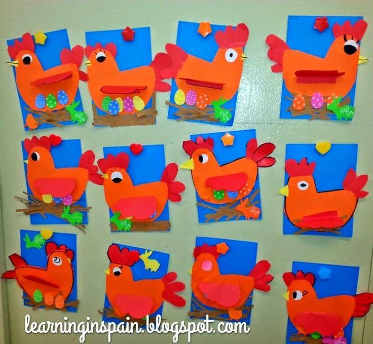 Easter hen craftivity