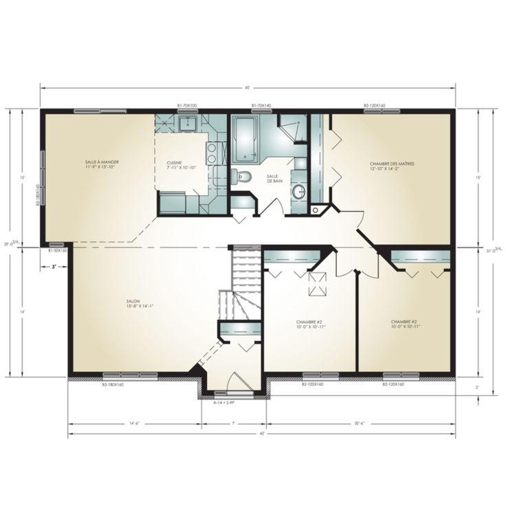 Pro-Fab | Constructeur de maisons modulaires, usinées, préfabriquées | Modèle Contemporaine
