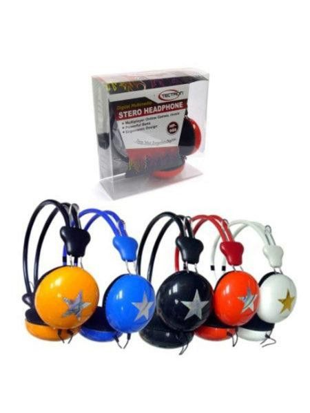Digital Multimedia Star Accent Stereo Headphones (Available in a pack of 6)