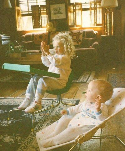 Taylor Swift as a little kid with Austin