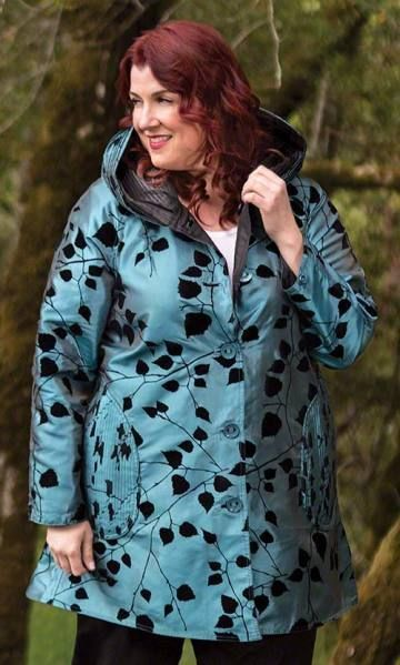 Falling Leaves Reversible Raincoat | Plus Size Fashion For Women | Fall Style #R…