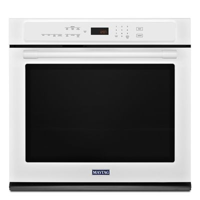Maytag 30-in Convection Single Electric Wall Oven (White)