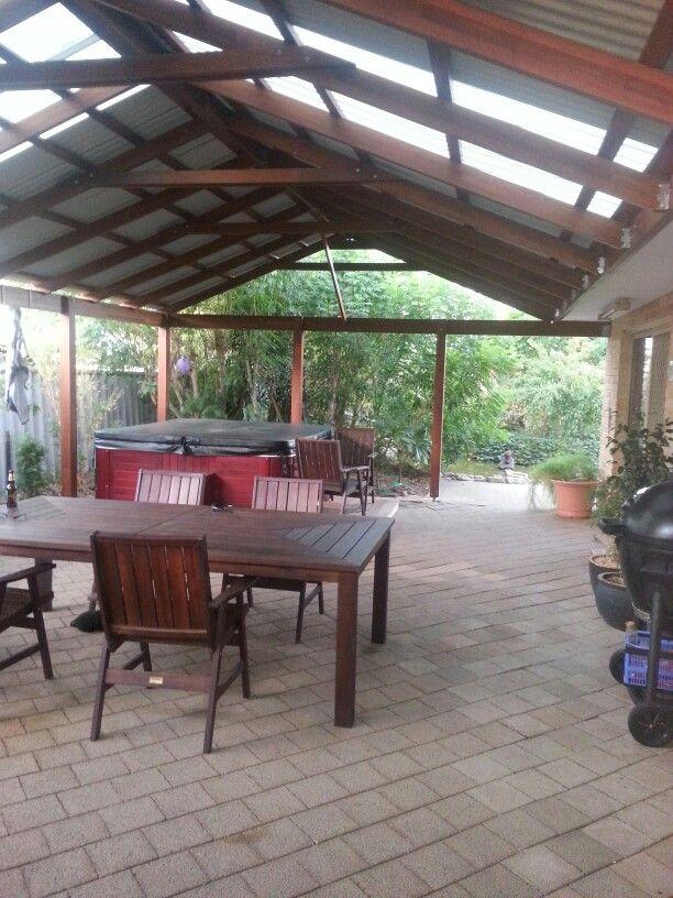 Custom built merbau patio still got all the decking to do