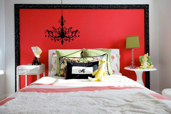 Black And Red Bedroom Walls