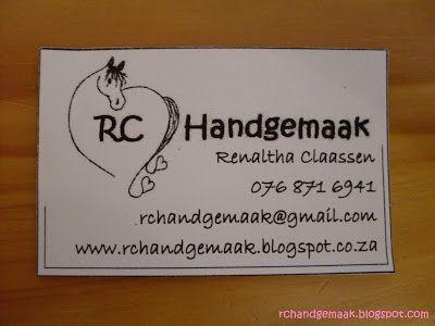 RC Handgemaak: Besigheidskaartjies