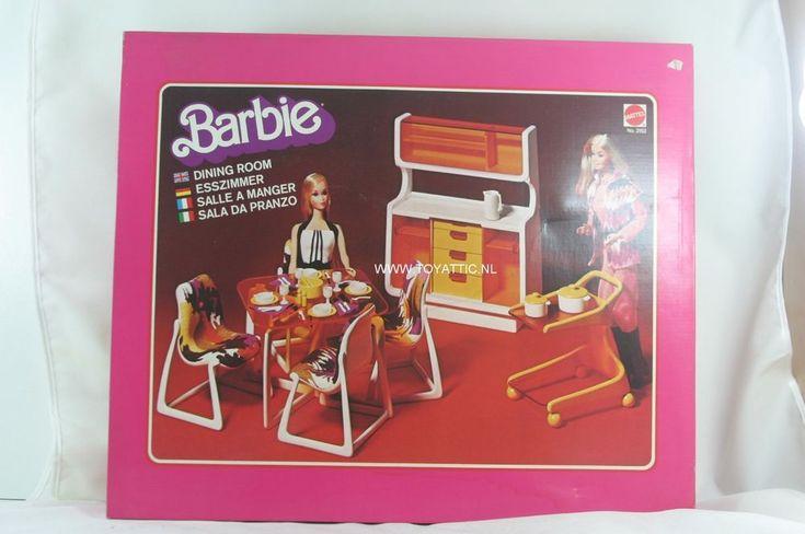 Barbie mod furniture set dining room dream house 1977 no. 2152 NRFB Very RARE!  | eBay