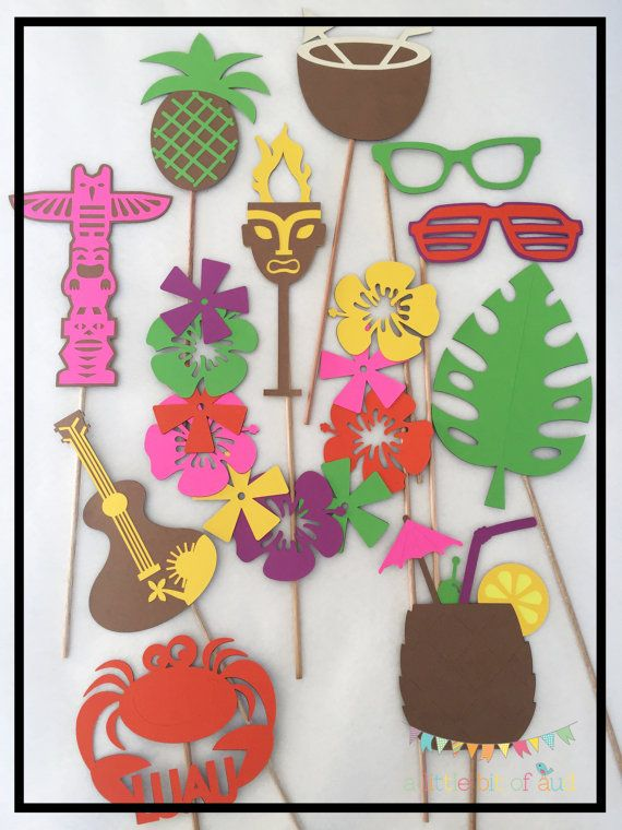 Luau Photo Booth Props Luau Luau Decorations by ALittleBitOfAud