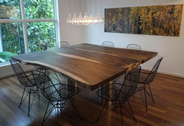 Des chaises de salle manger en m tal pour un look - Table et chaises de salle a manger ...