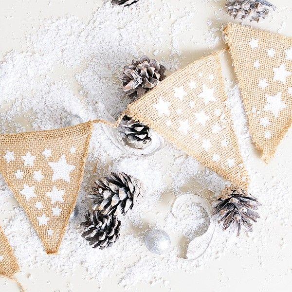 Banderin yute para decorar en Navidad #banderin #navidad #xmas #christmas