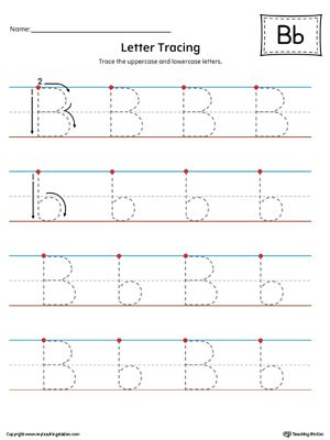 Letter B Tracing Printable Worksheet