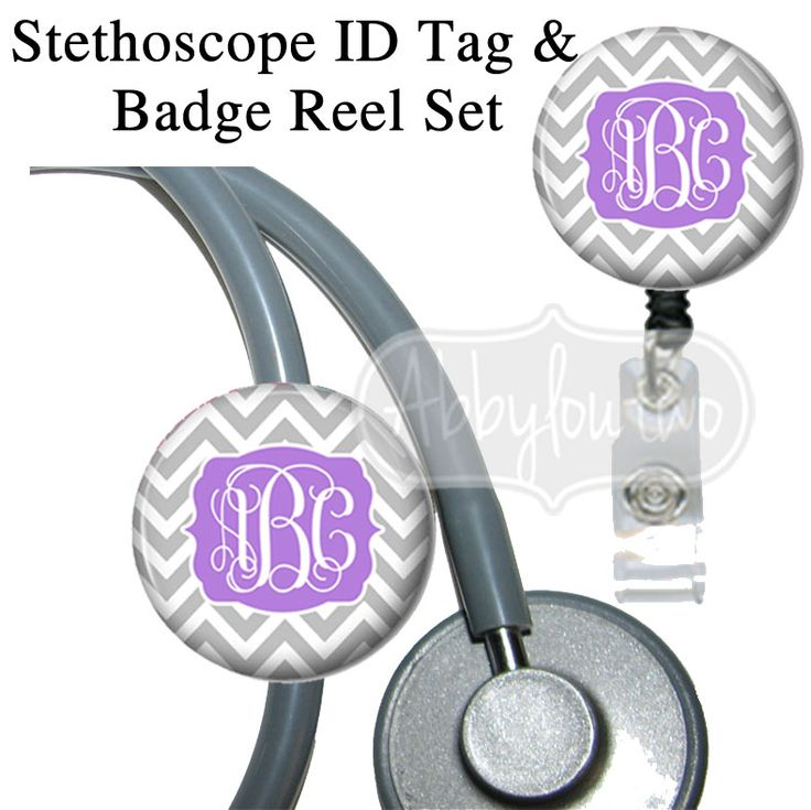 Chevron Bracket Set  Stethoscope ID Tag Bling Badge Reel #idtag #badgereel #idholder #abbyloutwo #name #badgeholder #stethoscopeidtag #stethoscope #initials #monogrammed #personalized #nurse