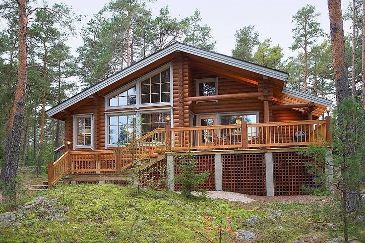 Holiday home KU65 - customer modification - Kuusamo Log Houses