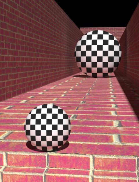 optical illusion. the balls are the same size.