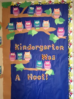 Apples and ABC's: Kindergarten Was a Hoot Bulletin Board