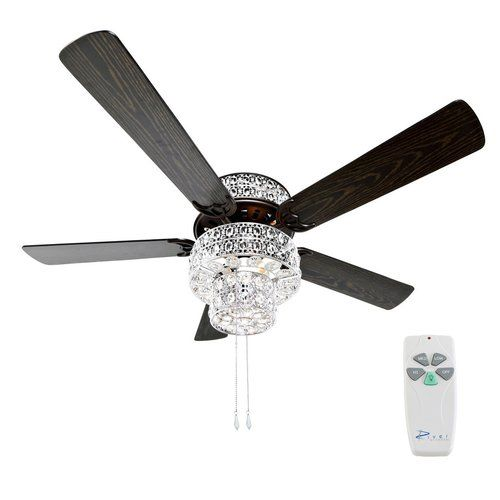 """Found it at Wayfair - 52"""" Punched Metal Crystal 5 Blade Ceiling Fan with Remote"""