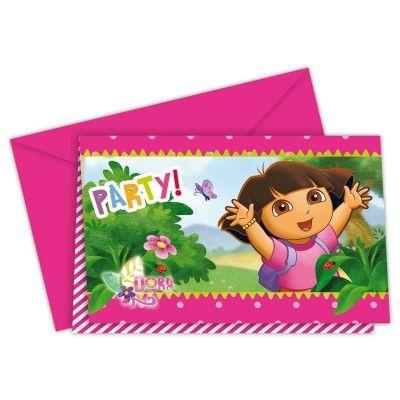 Leuke Dora the Explorer uitnodigingen.