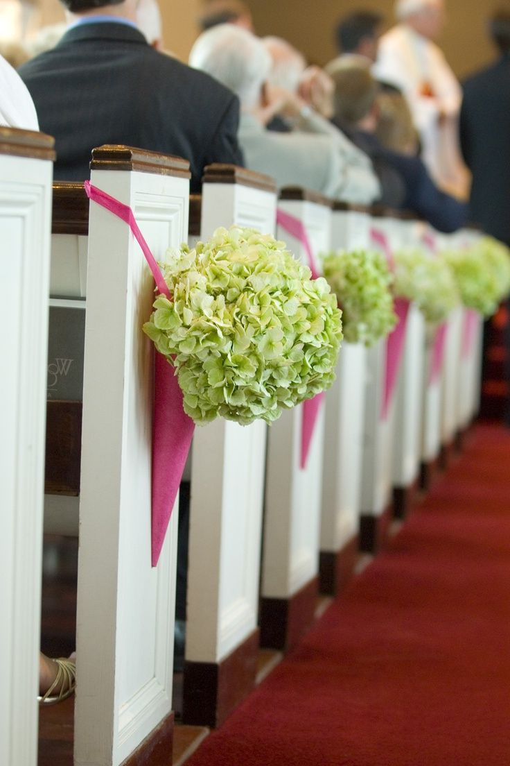 65 best Church Pew and Wedding Chair Pomander Flowers images on ...