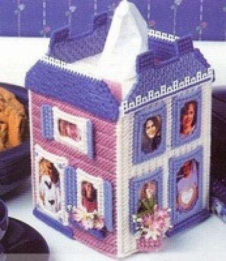 Çapraz dikiş peçetelik kutular Ev Mendil kutu El Sanatları kiti Kendi ellerinizle yapacağınız şirin bir dekor peçete kutusu! Boyutu:  18cm * 12CM * 12CM