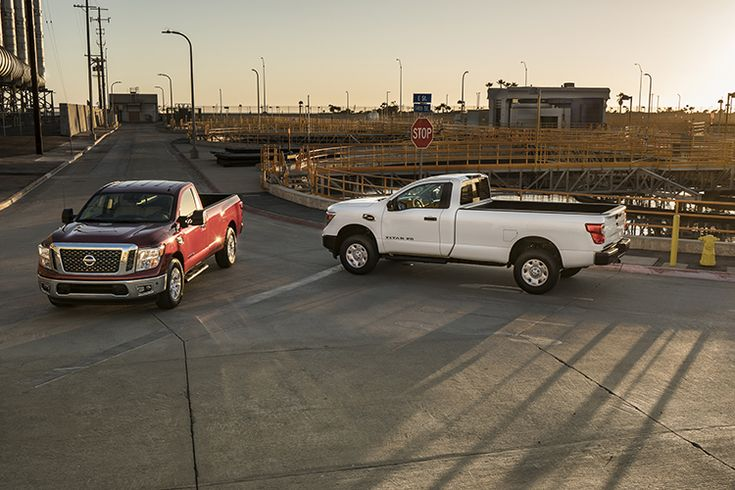 """The next chapter of Nissan's """"Year of the Truck"""" was unveiled today with a sneak peek of the latest members of the TITAN full-size pickup family – the 2017 TITAN XD and TITAN Single Cab models. The first-ever single cab offering in TITAN history, the new trucks are designed to provide an affordable and rugged entry-point in the commercial fleet/work truck market. The Single Cab is the second of three eventual TITAN body configurations, joining the current Crew Cab and future King Cab. The…"""