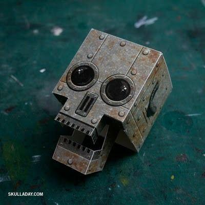 skull paper craft www.skulladay.com