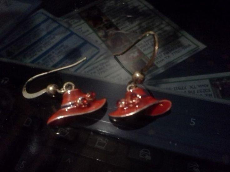 Red Hat Earrings-FREE ON LISTIA