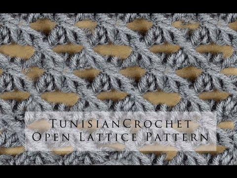 Tunisian Crochet Open Lattice Pattern