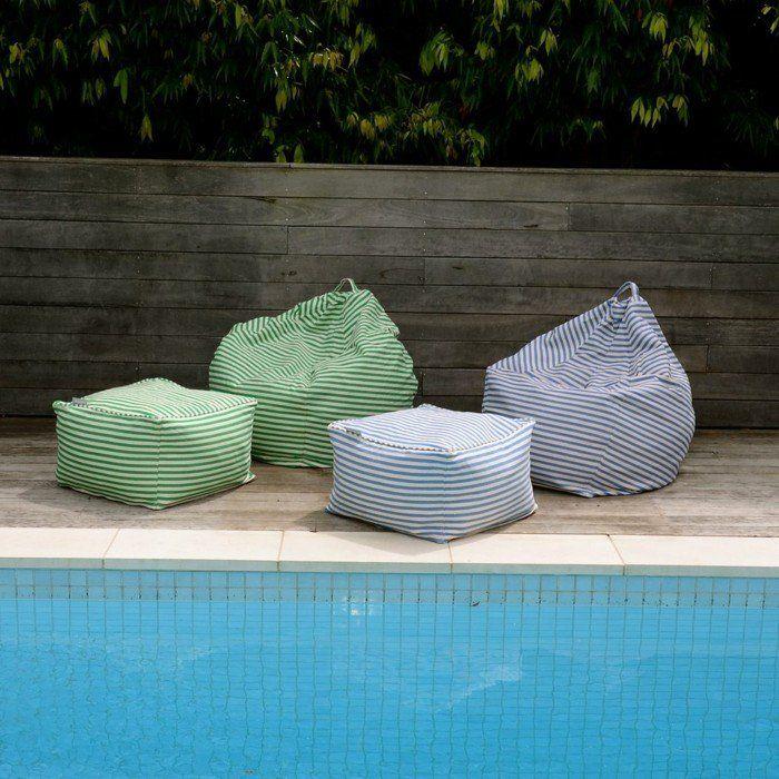 Sitzsack Outdoor Schwimmbad Design Streifen Farbig