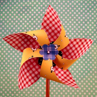 Four different pinwheel patterns to cut out with your Silhouette or Cricut