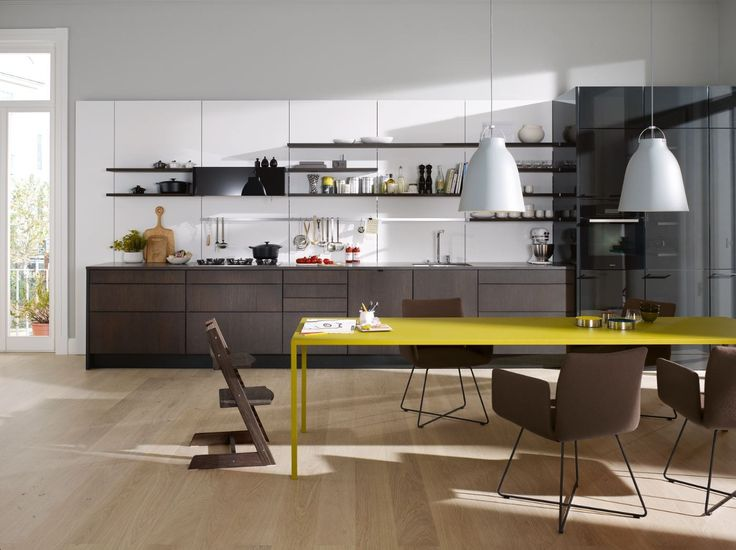 LINEAR FITTED KITCHEN WITHOUT HANDLES SE 4004 E BY SIEMATIC