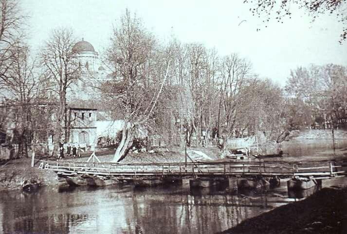 Hidak album. Ponton híd a zeneiskolánál, 60'as évek.  foto: RE , Herodek György