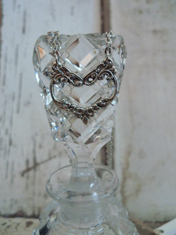 """Spoon Necklace: """"English Lace II Heart"""" by Silver Spoon Jewelry"""