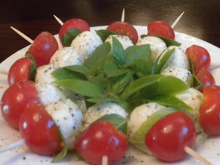 In the Kitchen with Holly: Mozzarella, Tomato, Basil - Caprese Appetizers