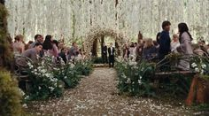 ok so it's not a real place...but it's the wedding scene from Twilight: breaking dawn. SO BEAUTIFUL!